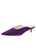 Womens Purple Suede Berta Kitten Heel Mule Alternate View