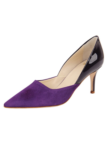 Womens Purple Suede Esty Pointed Toe Pump Alternate View