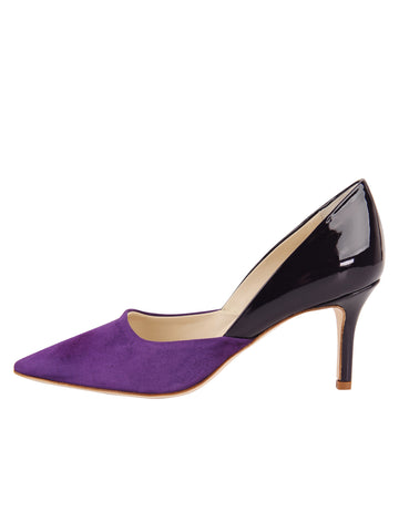Womens Purple Suede Esty Pointed Toe Pump 7