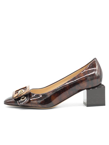 Womens Radish Patent Nuri Block Heeled Pump 7
