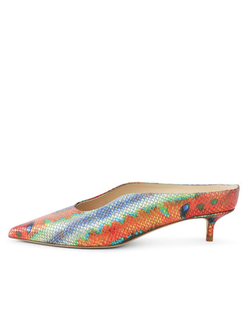 Womens Rainbow Fish Dorn Mule 7