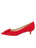 Womens Red Suede Beleney Pointed Toe Kitten Heel 7