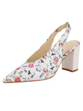 Womens Rose/White Snake Kendell Slingback Pump