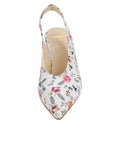 Womens Rose/White Snake Kendell Slingback Pump 4