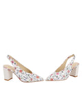 Womens Rose/White Snake Kendell Slingback Pump 5