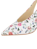 Womens Rose/White Snake Kendell Slingback Pump 6