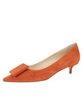 Womens Sienna Suede Beleney Pointed Toe Kitten Heel