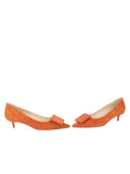 Womens Sienna Suede Beleney Pointed Toe Kitten Heel 5