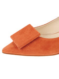 Womens Sienna Suede Beleney Pointed Toe Kitten Heel 6