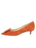 Womens Sienna Suede Beleney Pointed Toe Kitten Heel 7