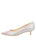 Womens Silver Daisy Born Pointed Toe Kitten Heel 7