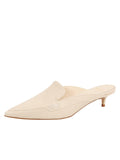 Womens Tapioca Tumbled Leather Bablina Kitten Heel Mule