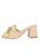 Womens Tapioca Tumbled Leather Getty Block Heeled Sandal 7