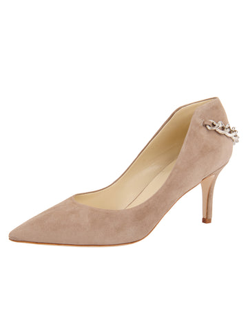 Womens Taupe Suede Kara Pointed Toe Pump Alternate View