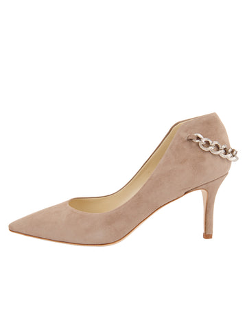 Womens Taupe Suede Kara Pointed Toe Pump 7