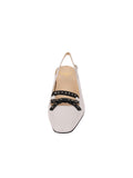 Womens White Nappa/Black Nixon Slingback Pump 4