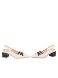 Womens White Nappa/Black Nixon Slingback Pump 5