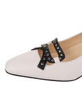 Womens White Nappa/Black Nixon Slingback Pump 6
