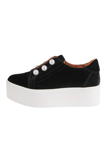 Womens Black Velvet Val 2