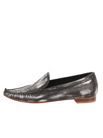 Womens Brushed Silver Kellie Pointed Toe Flat 2