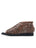 Womens Chocolate Alexie Laser Cut Peep-Toe Flat 2