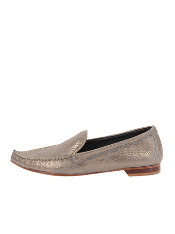 Womens Gunmetal Kellie Pointed Toe Flat 2