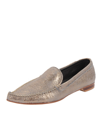 Womens Gunmetal Kellie Pointed Toe Flat Alternate View