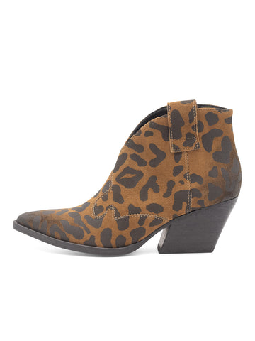 Womens Leopard Print Rodeo Pull On Bootie 2