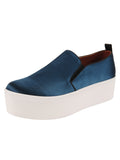 Womens Steel Blue Satin Vivian