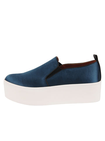 Womens Steel Blue Satin Vivian 2