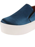 Womens Steel Blue Satin Vivian 6