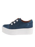 Womens Steel Blue Satin Val 2