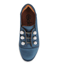 Womens Steel Blue Satin Val 5
