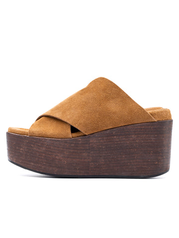 Womens Toffee Golden Vintage Suede 2