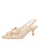 Womens Beige Fiji Satin Nicole Slingback Bow Pump Alternate View