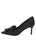 Womens Black Moire Pointed Toe Pump 7