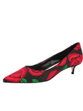 Womens Black/Red Bryn Kitten Heel