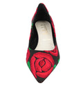 Womens Black/Red Bryn Kitten Heel 4