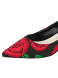 Womens Black/Red Bryn Kitten Heel 6
