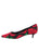 Womens Black/Red Bryn Kitten Heel 7