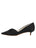 Womens Black Satin Brenna Kitten Heel 7