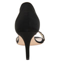 Womens Black Satin d'Orsay Sandal 2