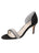 Womens Black Satin d'Orsay Sandal Alternate View