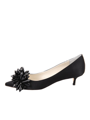 Womens Black Satin Britt 7