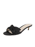 Womens Black Satin Butterfly
