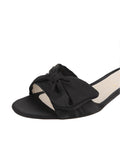 Womens Black Satin Butterfly 6