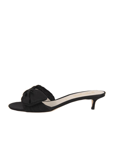 Womens Black Satin Butterfly 7