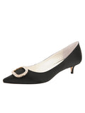 Womens Black Satin Cedar