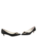 Womens Black Satin Cedar 5