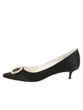 Womens Black Satin Cedar 7